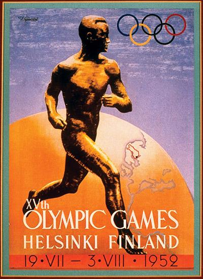 Helsinki Olympics Poster