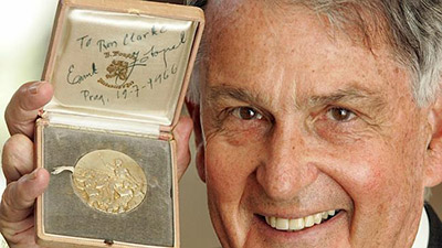 Ron Clarke and Medal